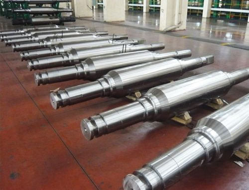 ASTM1045 carbon steel forged stepped shaft